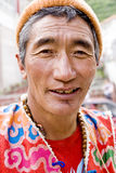 Tibet man 2. A Tibet man is looking at the camera .Photo taken in Tibet,Time:2010/8/19 Stock Photos
