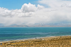 Tibet, Manasarovar Lake Stock Photo