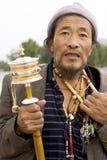 Tibet-Mann Stockbild