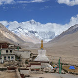 Tibet: monastério do rongbuk Fotografia de Stock Royalty Free