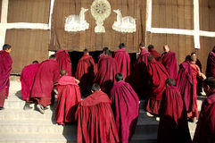 Tibet Monks Royalty Free Stock Photography
