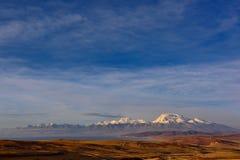 Tibet  mount naimonanyi and lake Manasarovar Royalty Free Stock Photos