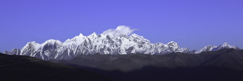 Tibet: mount namjagbarwa Royalty Free Stock Photo