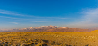 Tibet mountain panoramic view Royalty Free Stock Photos