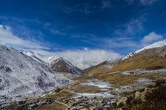 Tibet mountain view. From Nyalum to Tingri Royalty Free Stock Photo