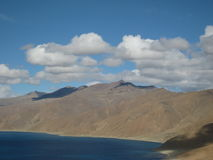 Tibet, Mountains. Mountain landscape of Tibet. Mountain by the river Royalty Free Stock Photography