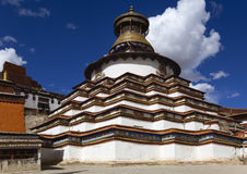 Tibet: myriad buddhas stupa Royalty Free Stock Photography