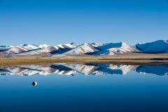 Tibet NamCo. NamCo Tibet asia china lake landscapes mountains water stone blue sky snow royalty free stock images
