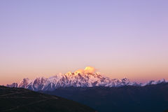 Tibet: namjagbarwa sunset Royalty Free Stock Photo