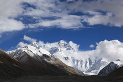 Tibet: north face of mount everest Royalty Free Stock Image