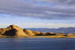 Tibet: pangong lake sunrise Stock Image