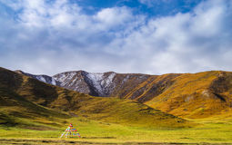 Tibet plateau Stock Photo