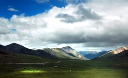 Tibet plateau niebo Obrazy Stock