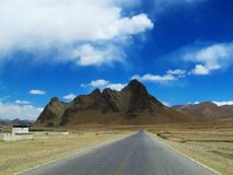 Tibet Plateau road Royalty Free Stock Photos