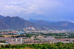 Tibet potala Lhasa arkivbilder