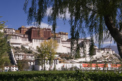 Tibet - Potala Palace in Lhasa. The Potala Palace in the city of Lhasa in Tibet (Tibet Autonomous Region of China). The Potala Palace was the chief residence of Royalty Free Stock Photos