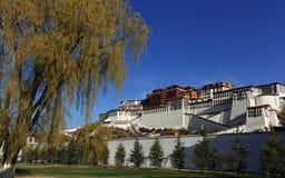 Tibet Potala slott Fotografering för Bildbyråer