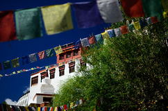 Tibet prayer flag Royalty Free Stock Photography