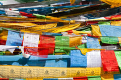Tibet prayer flags Stock Images
