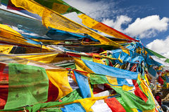 Tibet prayer flags Royalty Free Stock Images