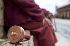 Tibet. A prayer in a monastery in tagong, tibet Stock Photos