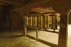 Tibet prayer wheels Stock Image