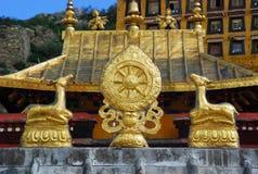 Tibet - Rad des Lebens, Ganden Monastry Stockbild