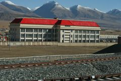 Tibet Railway Stock Photography