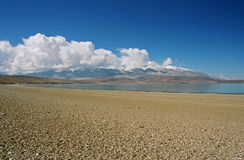 Tibet, Rakshas lake. Royalty Free Stock Image