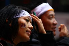 Save Tibet Rally Headband Royalty Free Stock Photography
