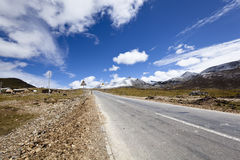 Tibet: road in the himalayas Stock Images