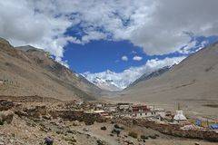 Tibet: rongbuk monastery Royalty Free Stock Image