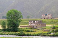 Tibet rural scenery Stock Image