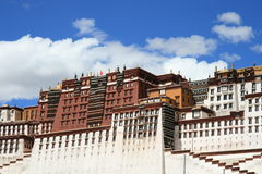 Tibet's Potala Palace in Lhasa. Potala Palace is a large-scale Gong Bao-style buildings.It is also an important symbol of Lhasa.It is the ancient Tibetan Royalty Free Stock Image