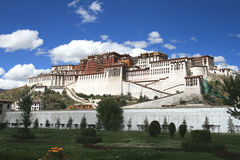 Tibet's Potala Palace in Lhasa. Potala Palace is a large-scale Gong Bao-style buildings.It is also an important symbol of Lhasa.It is the ancient Tibetan Royalty Free Stock Photo