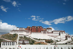 Tibet's Potala Palace in Lhasa. Potala Palace is a large-scale Gong Bao-style buildings.It is also an important symbol of Lhasa.It is the ancient Tibetan Stock Images
