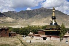 Tibet - Samye kloster - Tsetang royaltyfri fotografi