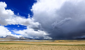 Tibet scenery. Cloud more celebration of wrong. Igawa more wrong in yadong county clouds and the blue sky white clouds exist at the same time, between heaven and stock photos
