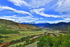 Tibet scenery. Tibet east of the mountains, mountains and downs, dense forest, the scenery is very spectacular beautiful. China Royalty Free Stock Image
