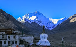 Tibet scenery. Flannelette temple is located in the north slope of mount Everest base camp at the foot of zhuoma 8 km to the top of the hill, elevation 4900 royalty free stock image