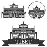 Tibet.  Set Stock Photo