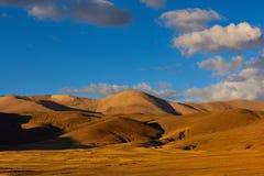 Tibet in the setting sun Royalty Free Stock Image