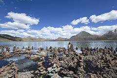 Tibet: Si Jin La Cuo Lake Stock Photo