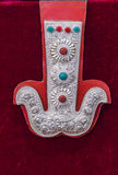 Tibet silver ornament by hand Royalty Free Stock Photography