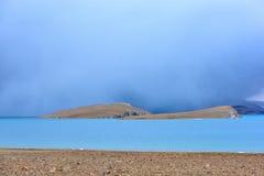 Tibet sjö Phumayumtso arkivfoto