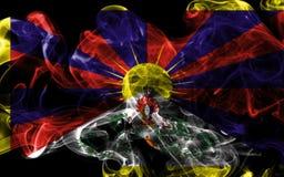 Tibet smoke flag, dependent territory flag.  Royalty Free Stock Image