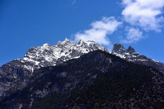 Tibet snöberg royaltyfri bild