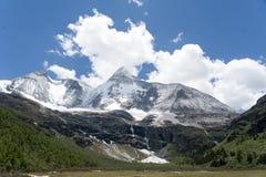 Tibet snow mountain with Grassland. In China Royalty Free Stock Photos