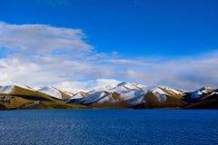 Tibet snow mountain lake Royalty Free Stock Image