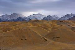 Tibet Snow mountain sacred lake cloud Stock Photo